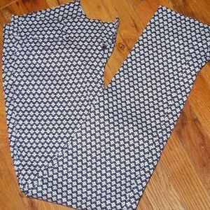 LOFT black & White Geo print pants